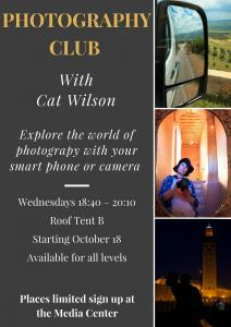 Photography club with Cat Wilson