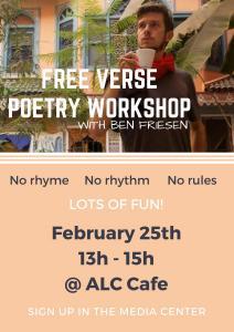 free verse poetry workshop