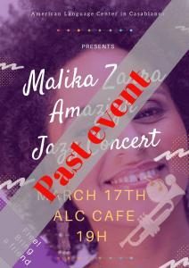 malika zarrain an intimate jazz concert