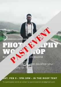 PHOTOGRAPHY WORKSHOP BY HAMZAH