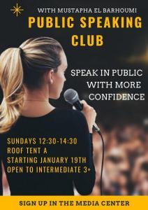 Public Speaking Club winter 2020
