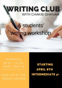 WRITING CLUB SPRING 2019R