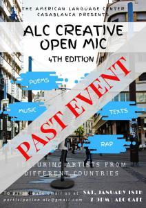 ALC Creative Open Mic Poster