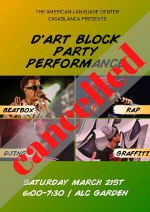 d'art block party Performance